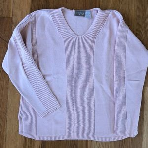 Liz Claiborne light pink sweater